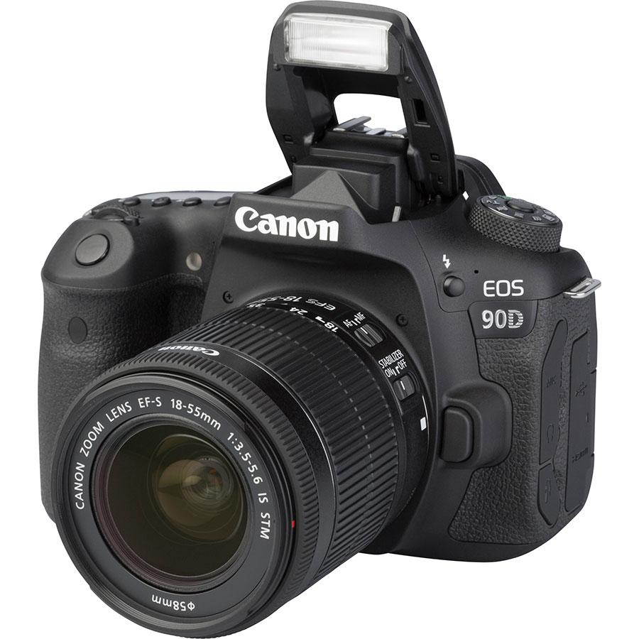 Canon EOS 90D + EF-S 18-55 mmIS STM - Vue principale