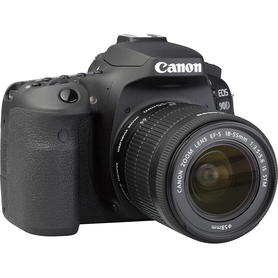 Canon EOS 90D + EF-S 18-55 mmIS STM - Vue de 3/4 vers la droite