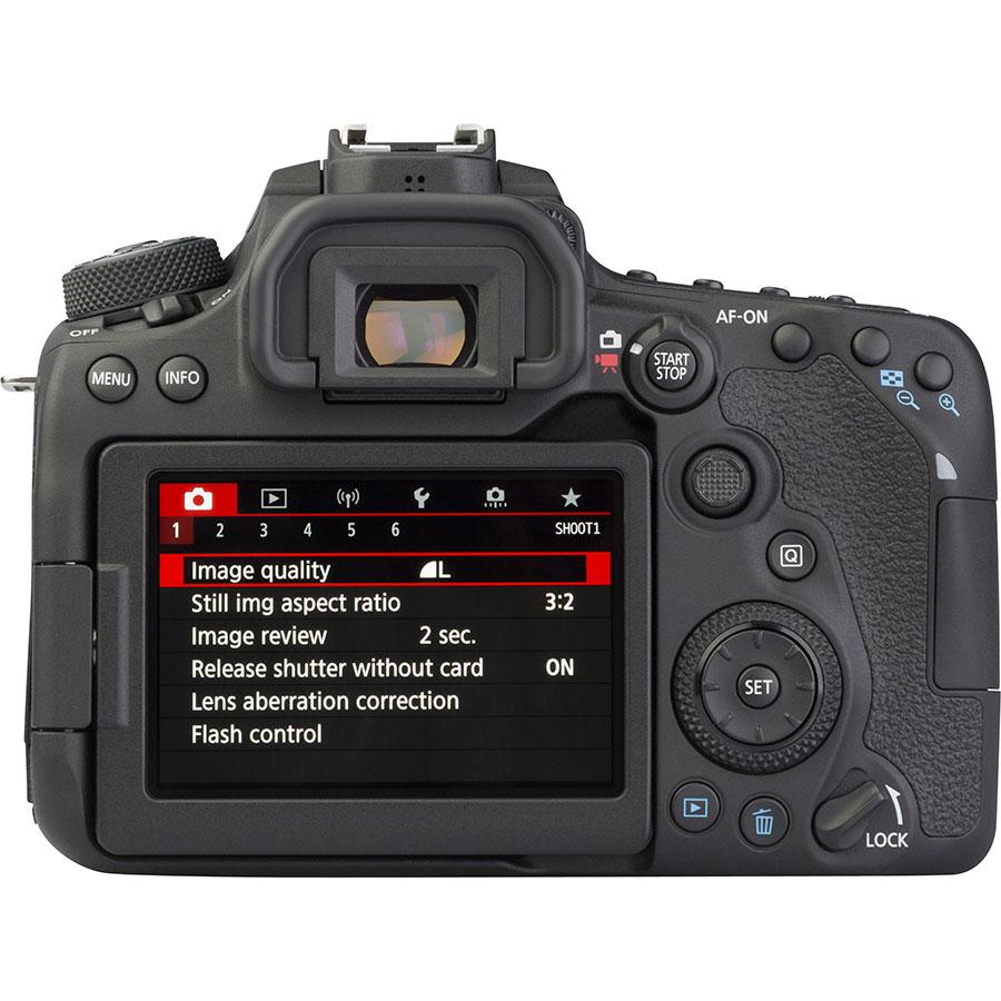 Canon EOS 90D + EF-S 18-55 mmIS STM - Vue de dos