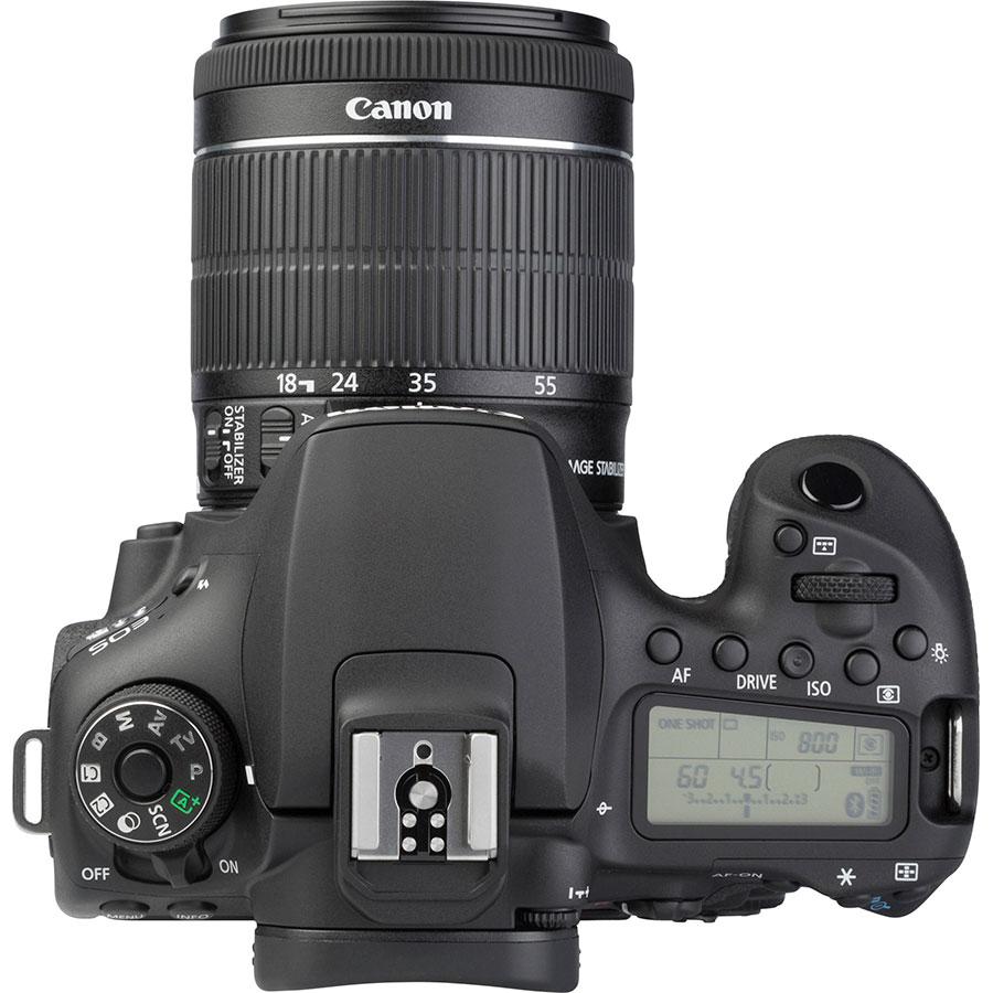 Canon EOS 90D + EF-S 18-55 mmIS STM - Vue du dessus