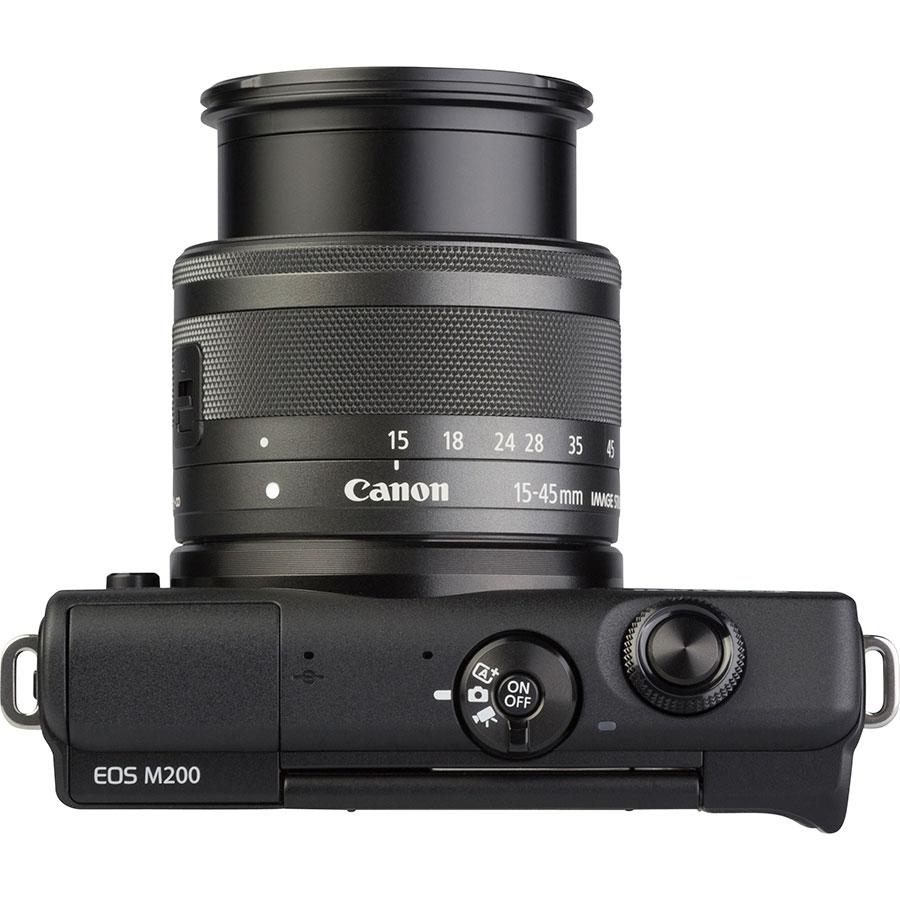 Canon EOS M200 + EF-M 15-45 mm IS STM - Vue du dessus