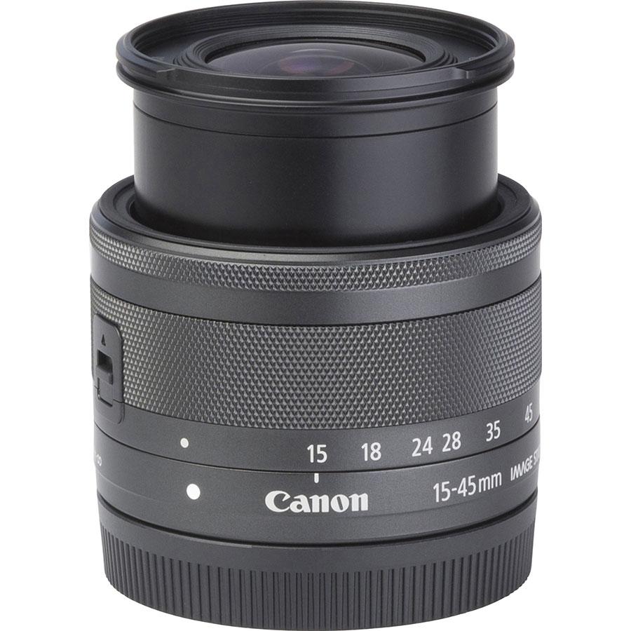 Canon EOS M5 + EF-M 15-45 mm IS STM - Vue du dessus