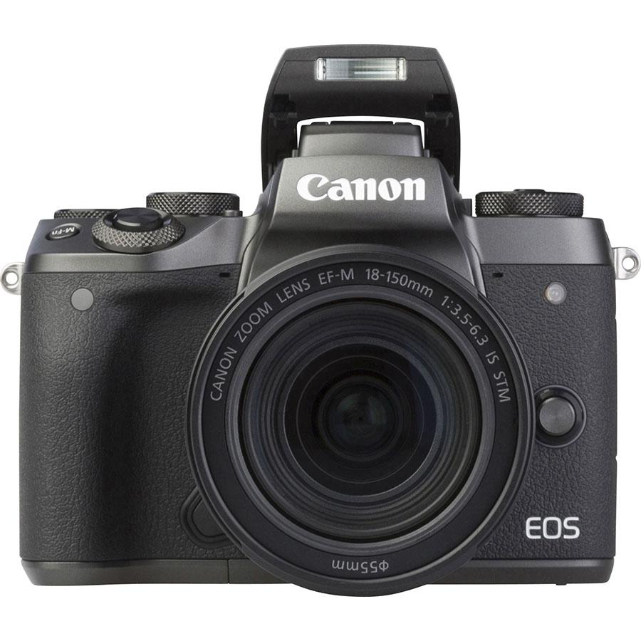 Canon EOS M5 + EF-M 18-150 mm IS STM - Vue de face