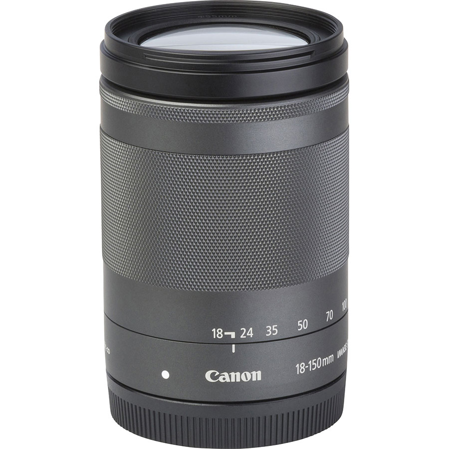 Canon EOS M5 + EF-M 18-150 mm IS STM - Vue de l'objectif