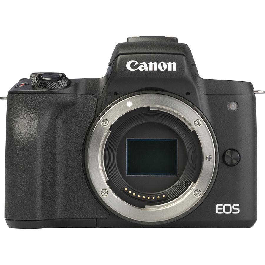 Canon EOS M50 + EF-M 18-150 mm IS STM - Vue de face sans objectif
