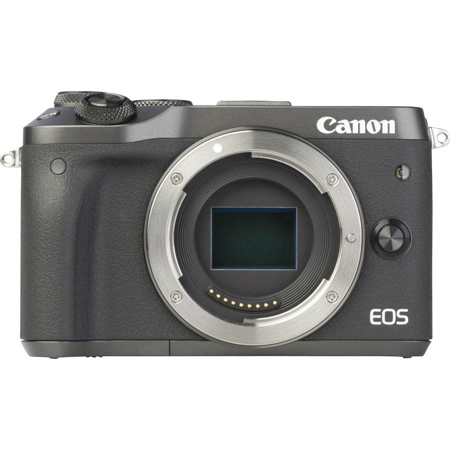 Canon EOS M6 + EF-M 15-45 mm IS STM - Vue de face sans objectif