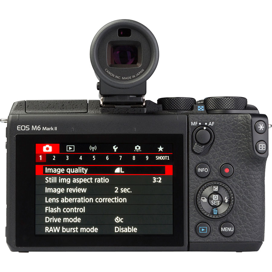 Canon EOS M6 Mark II + EF-M 15-45 mm IS STM - Vue de dos