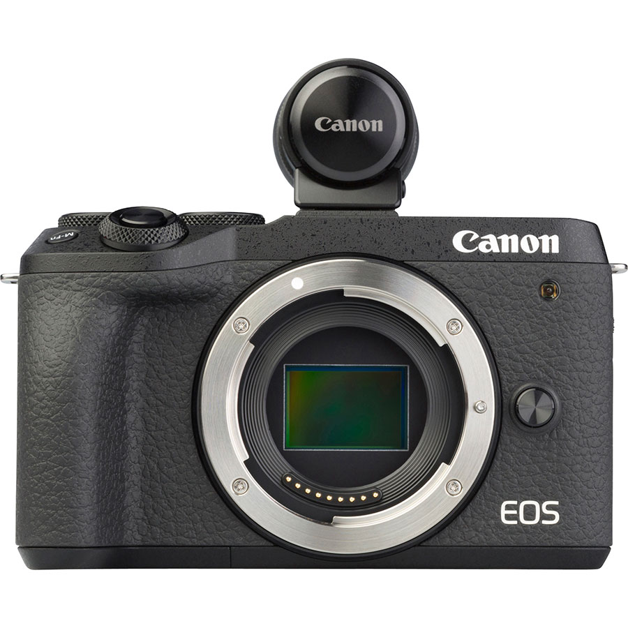 Canon EOS M6 Mark II + EF-M 15-45 mm IS STM - Vue de face sans objectif