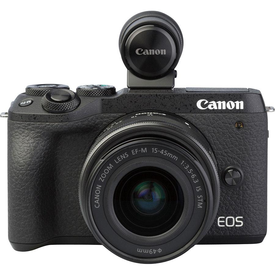 Canon EOS M6 Mark II + EF-M 15-45 mm IS STM - Vue de face