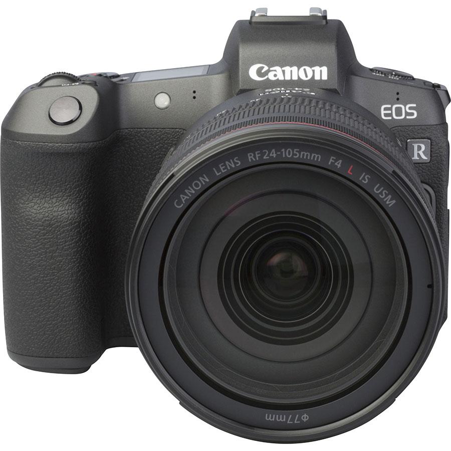 Canon EOS R + RF 24-105 mm L IS USM - Autre vue de face