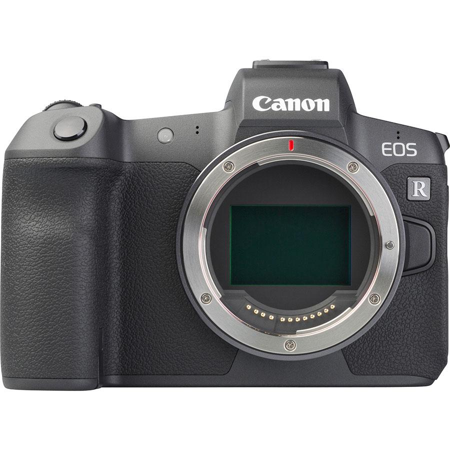 Canon EOS R + RF 24-105 mm L IS USM - Vue de face sans objectif