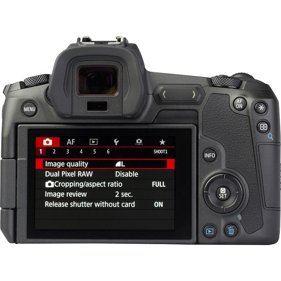 Canon EOS R + RF 24-105 mm L IS USM - Vue de dos