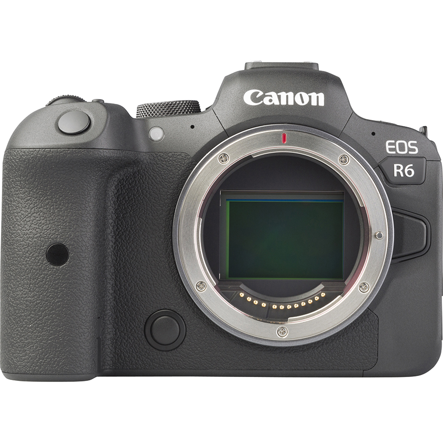 Canon EOS R6 + RF 24-105 mm IS STM - Vue de face sans objectif