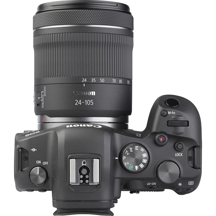 Canon EOS R6 + RF 24-105 mm IS STM - Vue de dessus