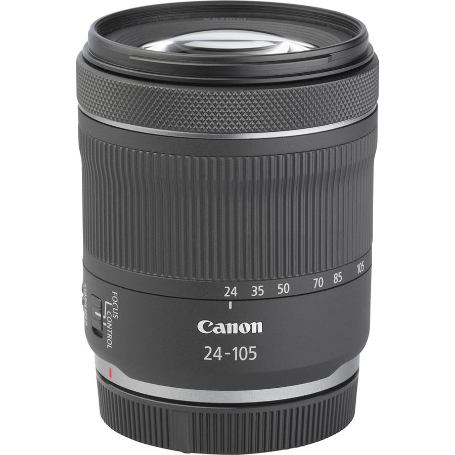 Canon EOS R6 + RF 24-105 mm IS STM - Vue de l'objectif