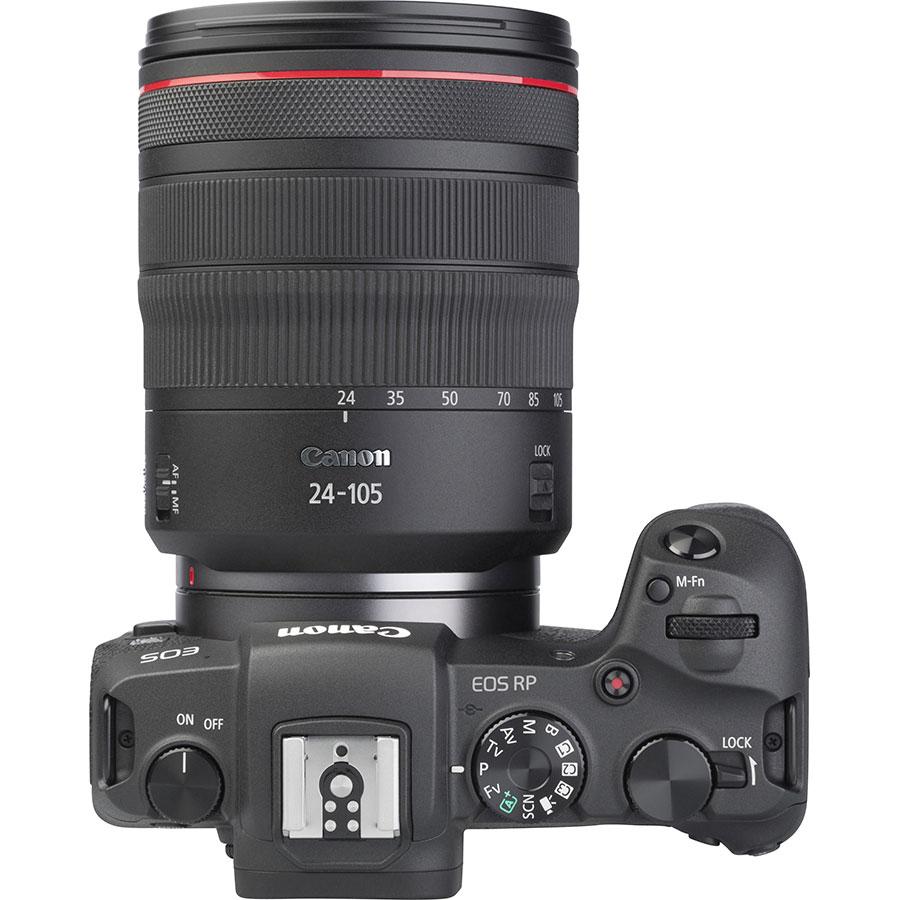 Canon EOS RP + RF 24-105 mm L IS USM - Vue du dessus