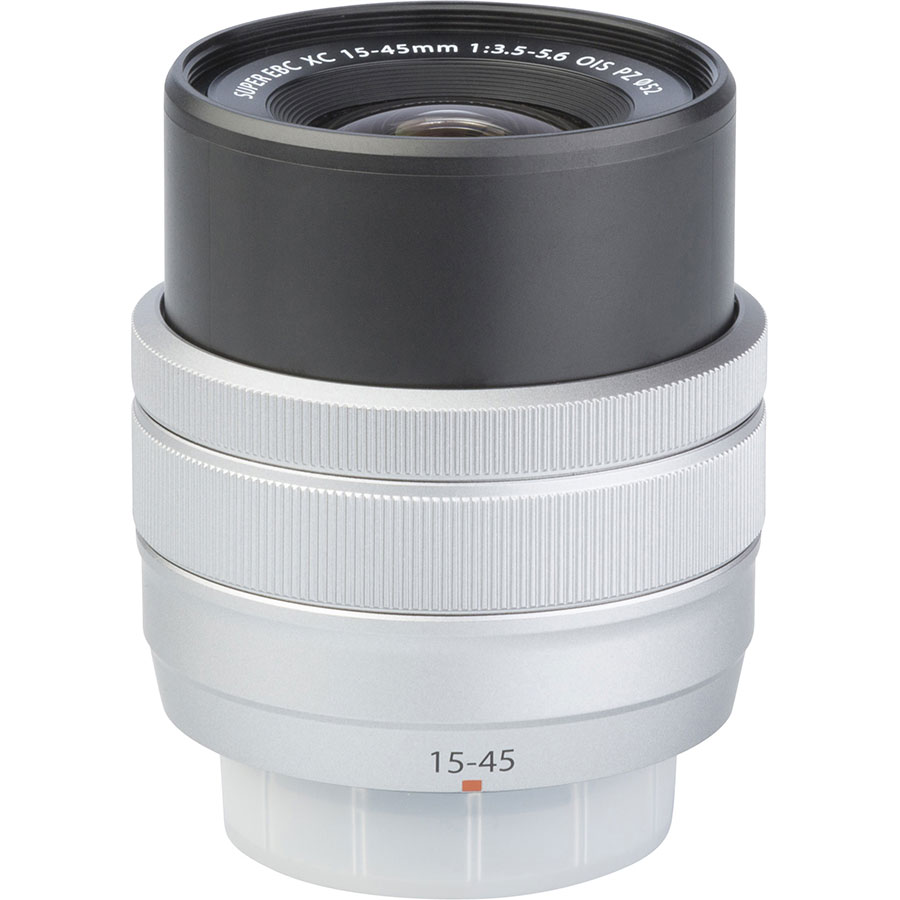Fujifilm X-A5 + Fujinon Super EBC XC 15-45 mm OIS PZ - Vue de l'objectif