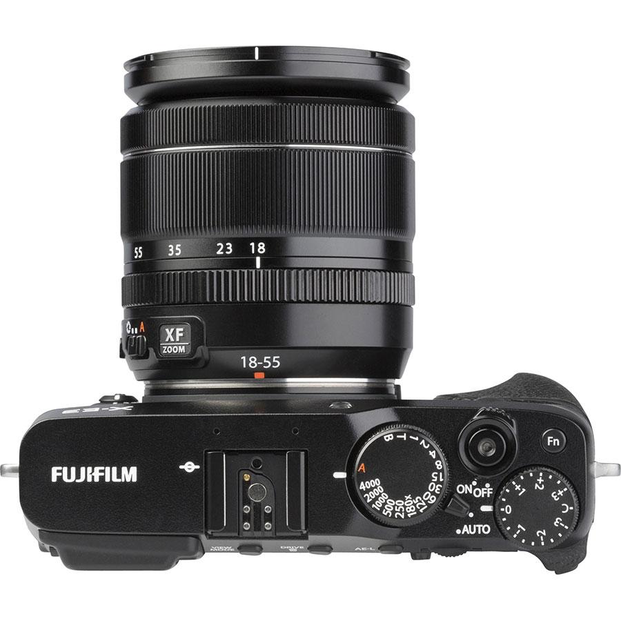Fujifilm X-E3 + Fujinon Super EBC XF 18-55 mm R LM OIS - Vue du dessus