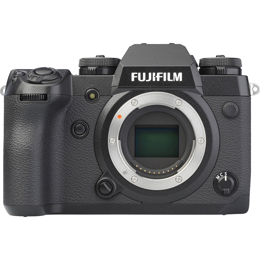 Fujifilm X-H1 + Fujinon Nano-Gl XF 16-55 mm R LM WR - Vue de face sans objectif