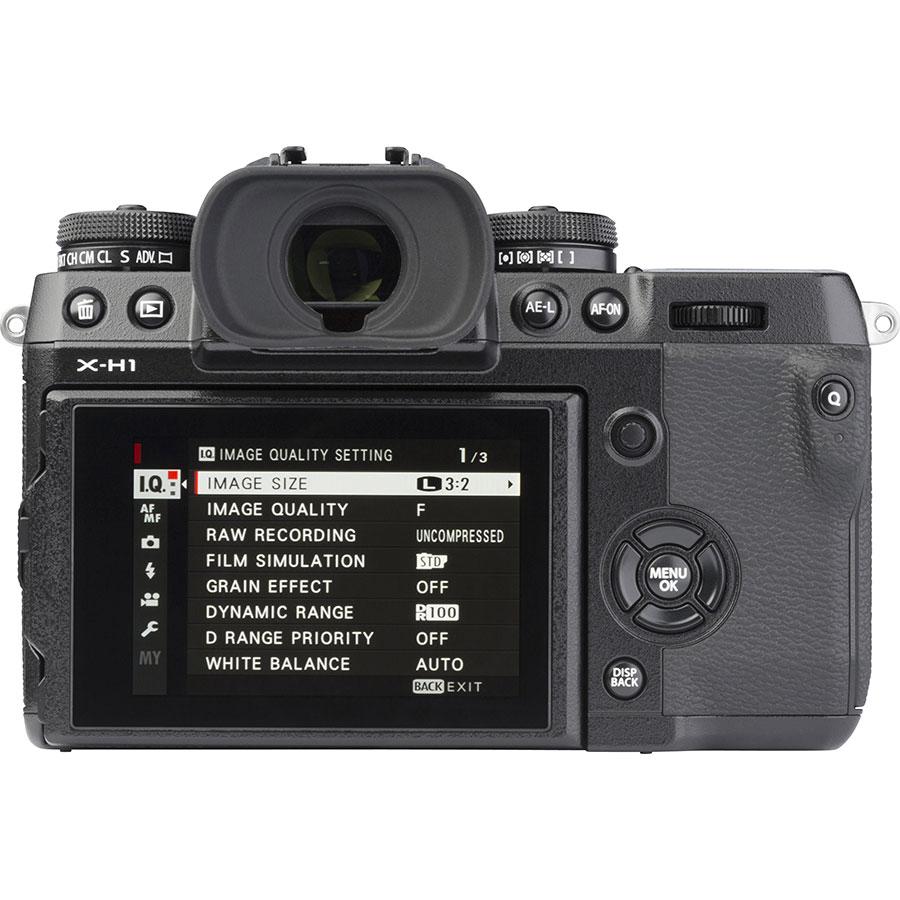 Fujifilm X-H1 + Fujinon Nano-Gl XF 16-55 mm R LM WR - Vue de dos