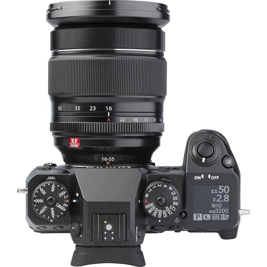 Fujifilm X-H1 + Fujinon Nano-Gl XF 16-55 mm R LM WR - Vue du dessus