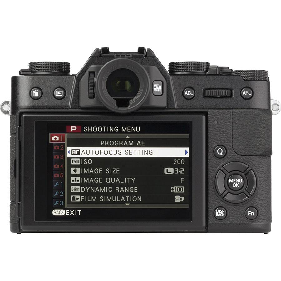 Fujifilm X-T 10 + Fujinon Super EBC XF 18-55 mm R LM OIS - Vue de dos