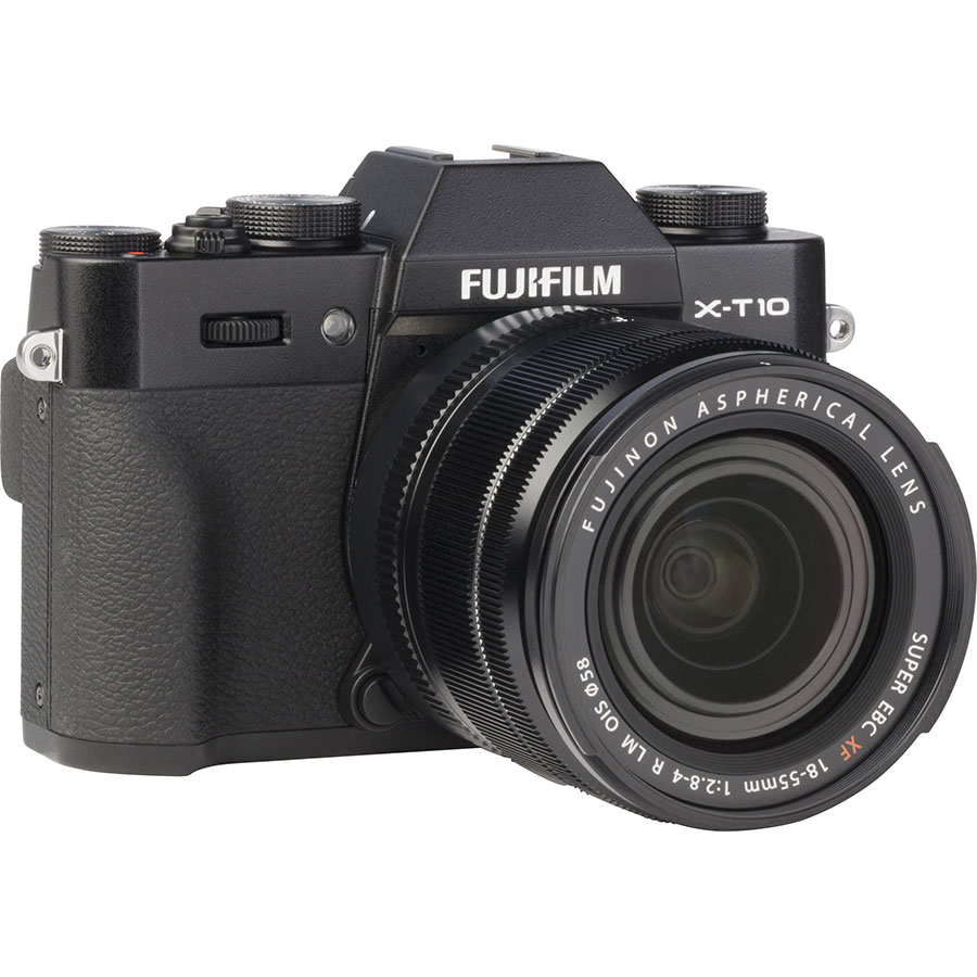 Fujifilm X-T 10 + Fujinon Super EBC XF 18-55 mm R LM OIS - Vue de face sans objectif