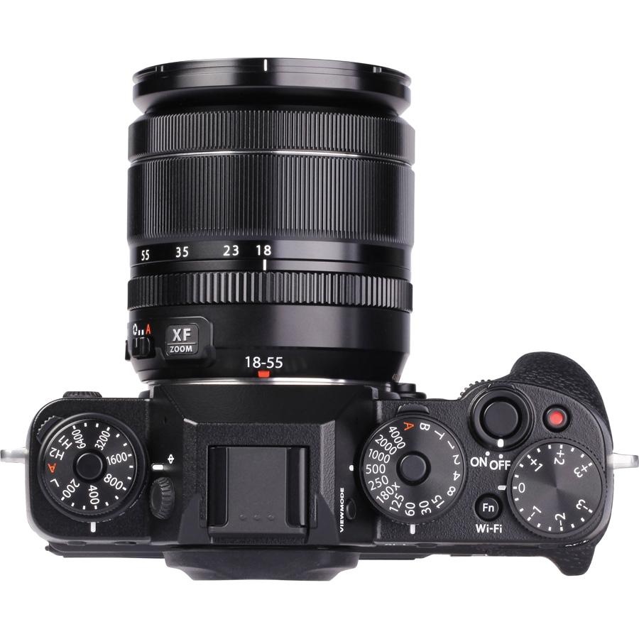 Fujifilm X-T1 + Fujinon XF 18-55 mm R LM OIS - Vue de l'objectif