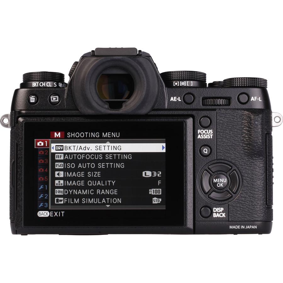 Fujifilm X-T1 + Fujinon XF 18-55 mm R LM OIS - Vue de 3/4 vers la droite