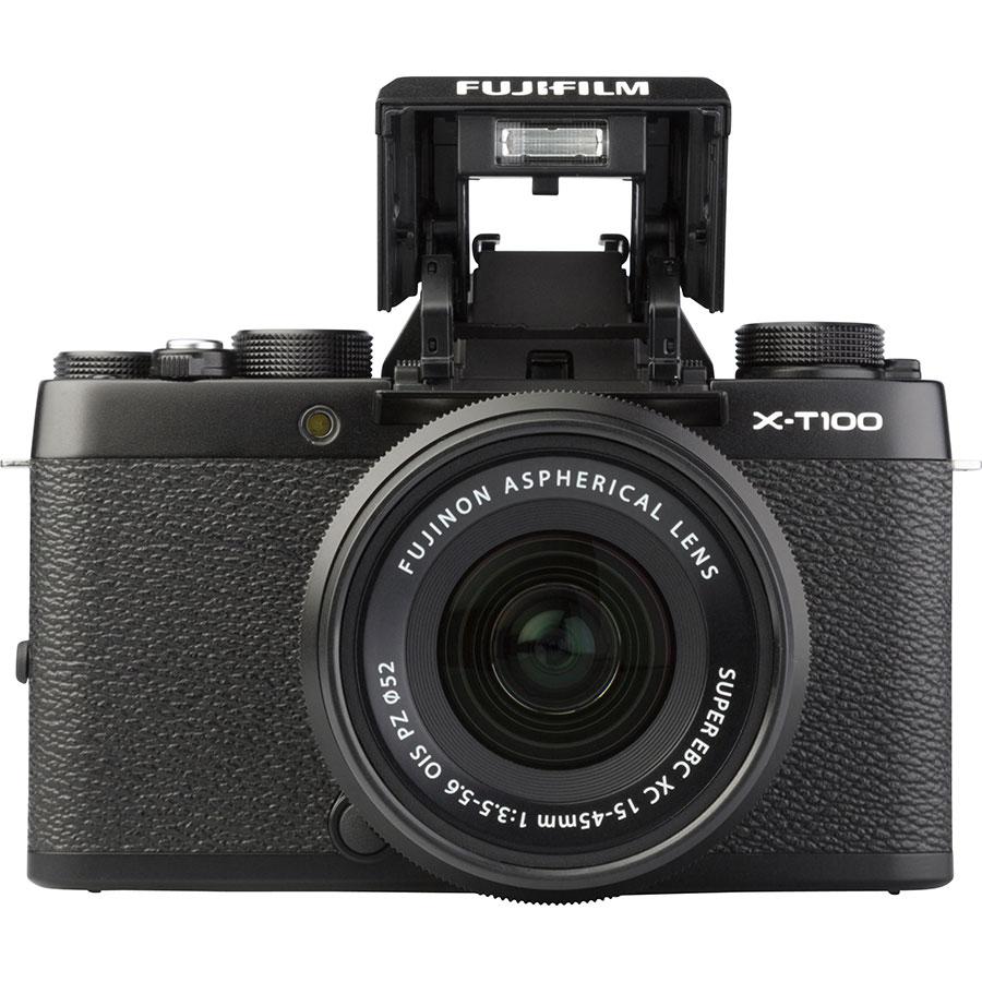 Fujifilm X-T100 + Fujinon Super EBC XC 15-45 mm OIS PZ - Vue de face