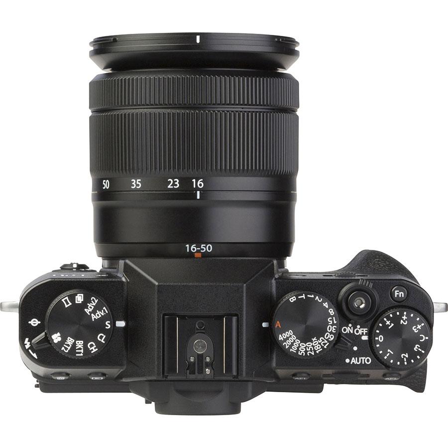 Fujifilm X-T20 + Fujinon Super EBC XC 16-50 mm OIS II - Vue du dessus