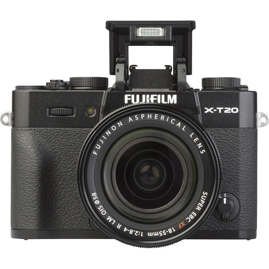 Fujifilm X-T20 + Fujinon Super EBC XF 18-55 mm R LM OIS - Vue de face