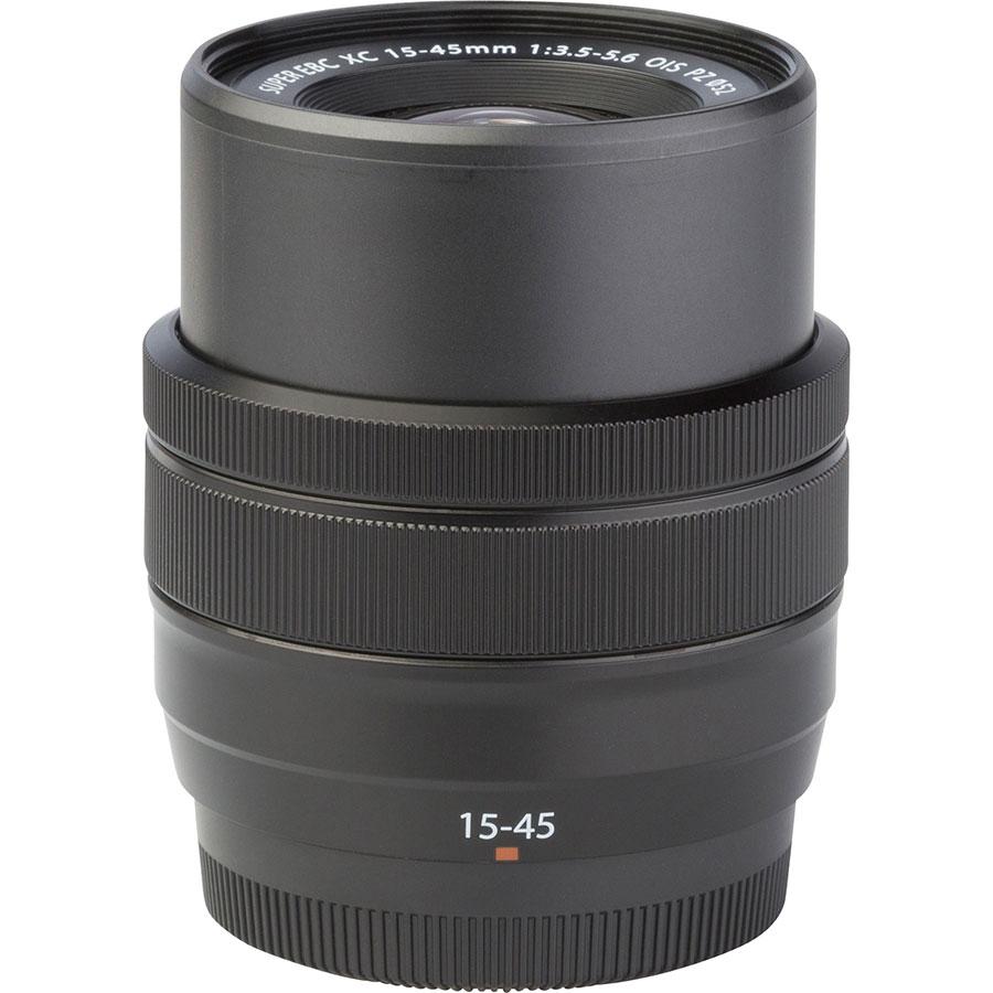 Fujifilm X-T200 + Fujinon Super EBC XC 15-45 mm OIS PZ - Vue de l'objectif