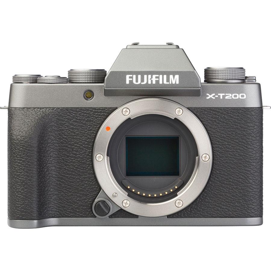 Fujifilm X-T200 + Fujinon Super EBC XC 15-45 mm OIS PZ - Vue de face sans objectif
