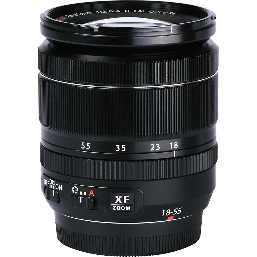 Fujifilm X-T3 + Fujinon Super EBC XF 18-55 mm R LM OIS - Vue de l'objectif