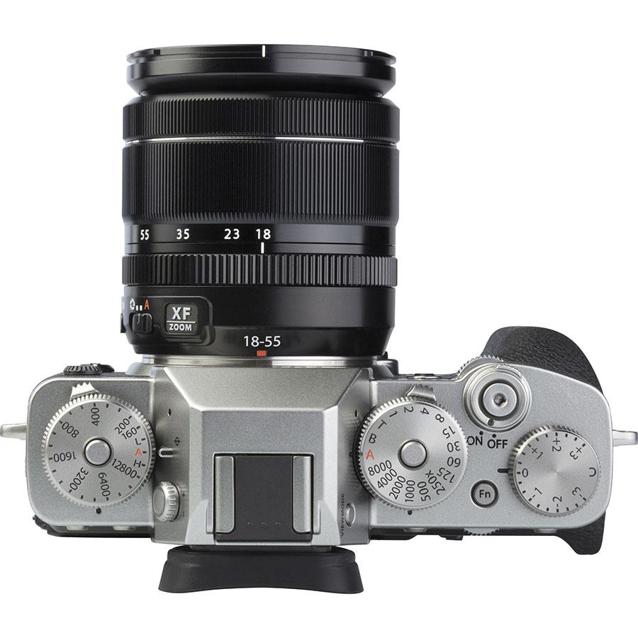 Fujifilm X-T3 + Fujinon Super EBC XF 18-55 mm R LM OIS - Vue du dessus