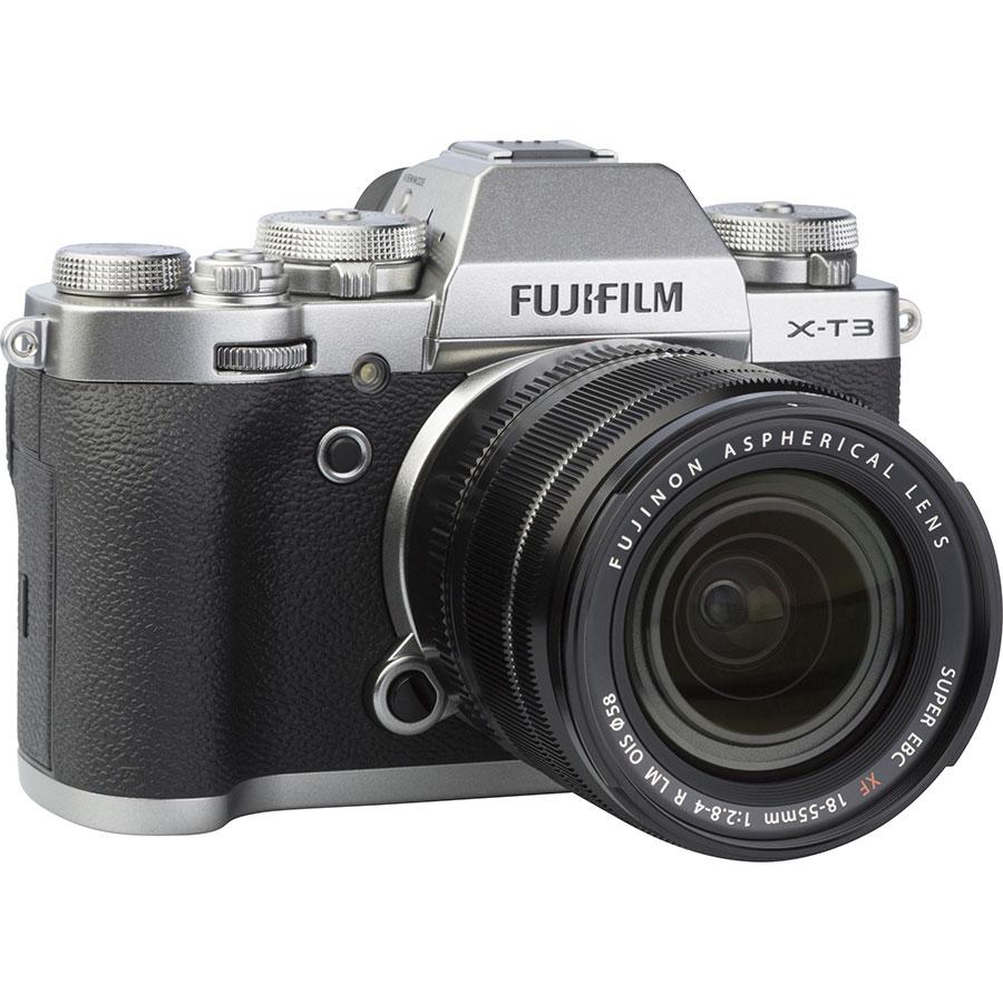 Fujifilm X-T3 + Fujinon Super EBC XF 18-55 mm R LM OIS - Vue de 3/4 vers la droite