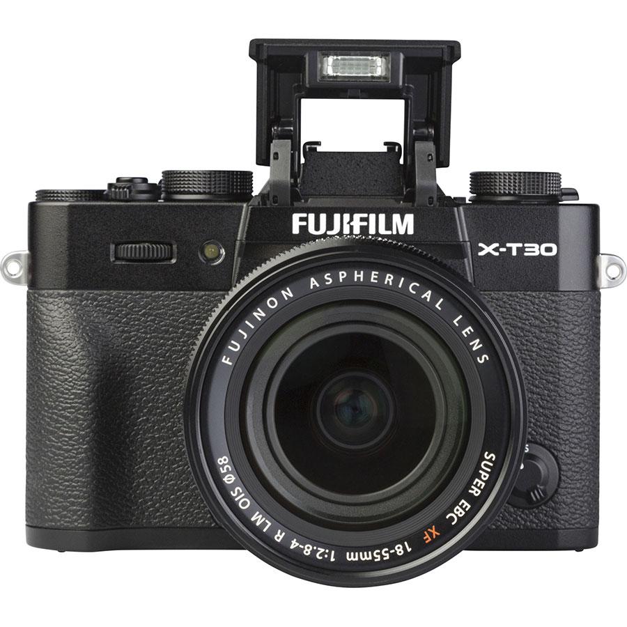 Fujifilm X-T30 + Fujinon Super EBC XF 18-55 mm R LM OIS - Vue de face