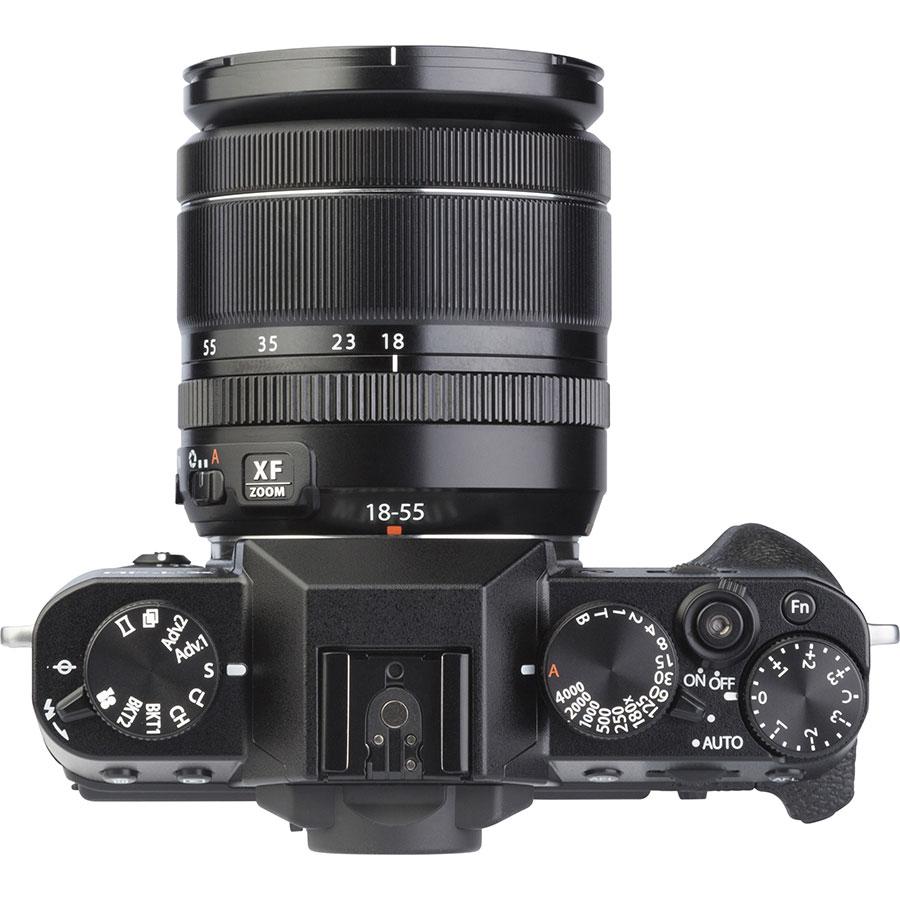 Fujifilm X-T30 + Fujinon Super EBC XF 18-55 mm R LM OIS - Vue du dessus