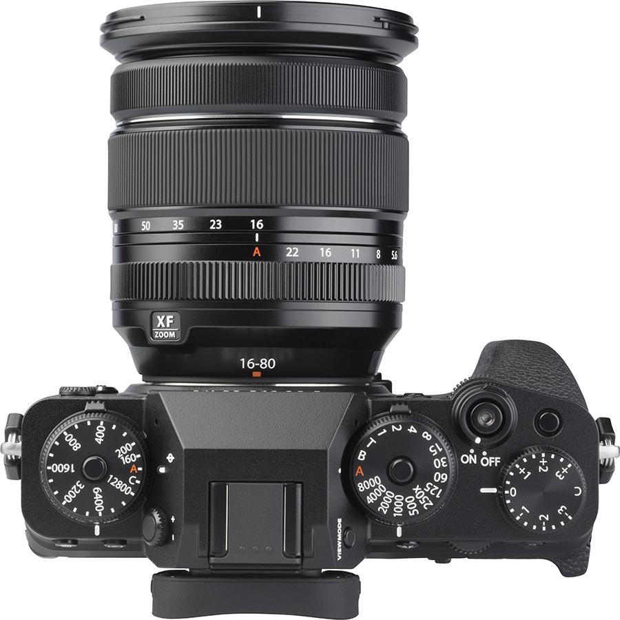 Fujifilm X-T4 + Fujinon Super EBC XF 16-80 mm R OIS WR - Vue de dessus