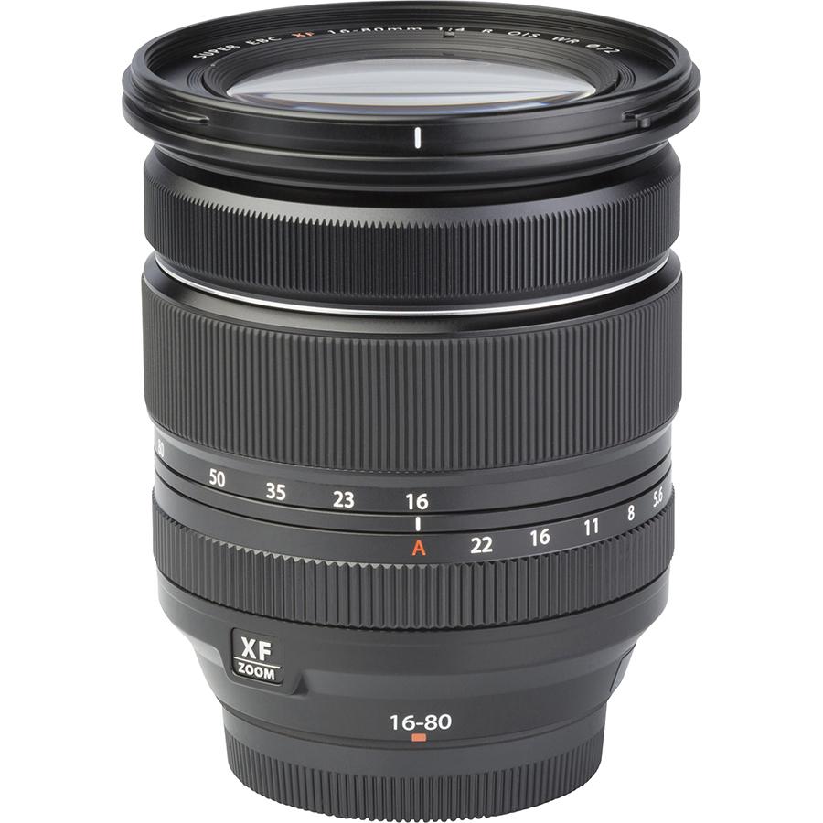 Fujifilm X-T4 + Fujinon Super EBC XF 16-80 mm R OIS WR - Vue de l'objectif