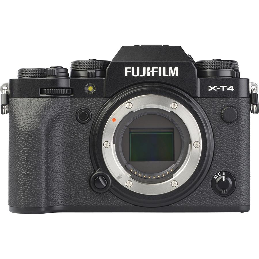 Fujifilm X-T4 + Fujinon Super EBC XF 16-80 mm R OIS WR - Vue de face sans objectif