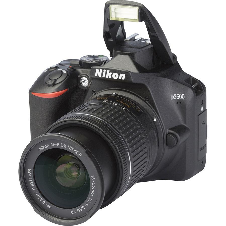 Nikon D3500 + AF-P DX Nikkor 18-55 mm G VR - Vue principale