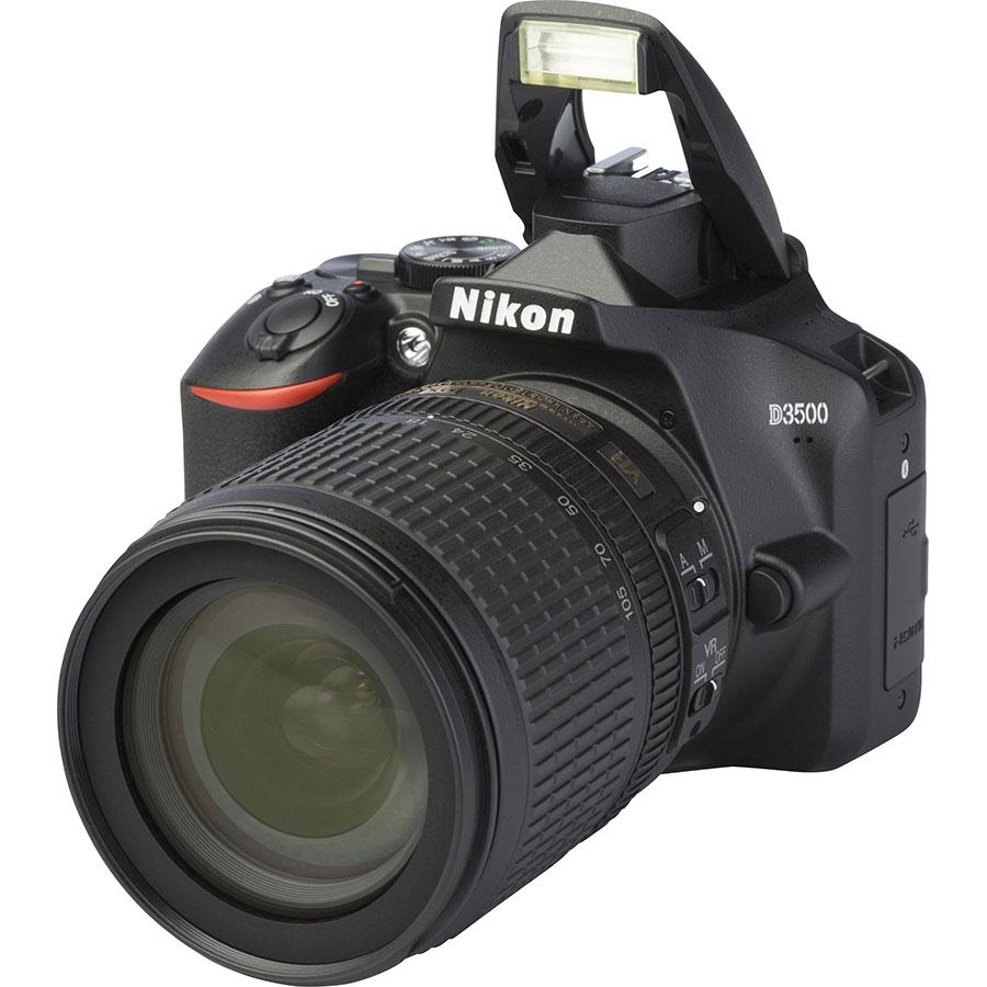 Nikon D3500 + AF-S DX Nikkor 18-105 mm G ED VR - Vue principale