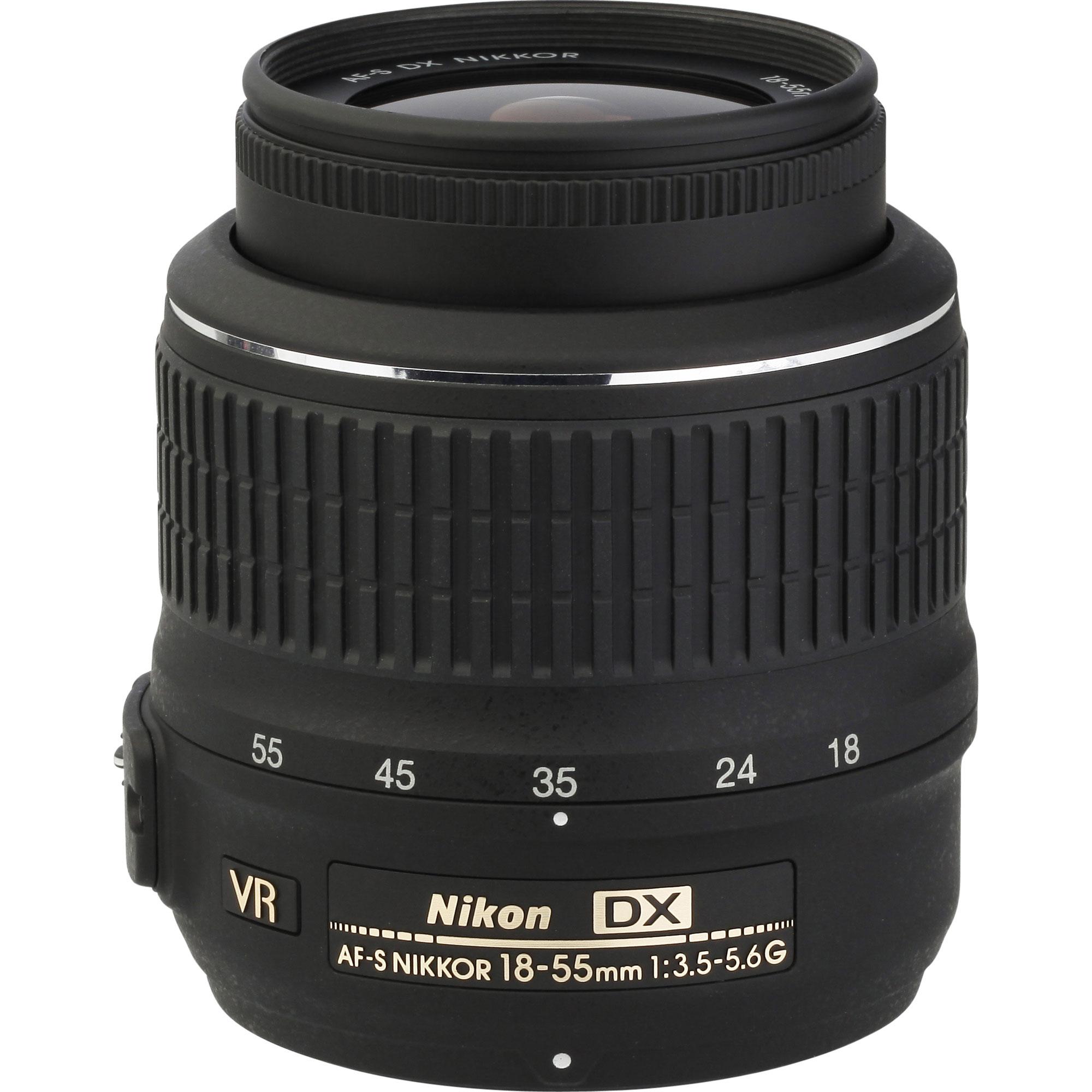 Nikon D5300 + AF-S DX Nikkor 18-55 mm G VR - Vue de l'objectif