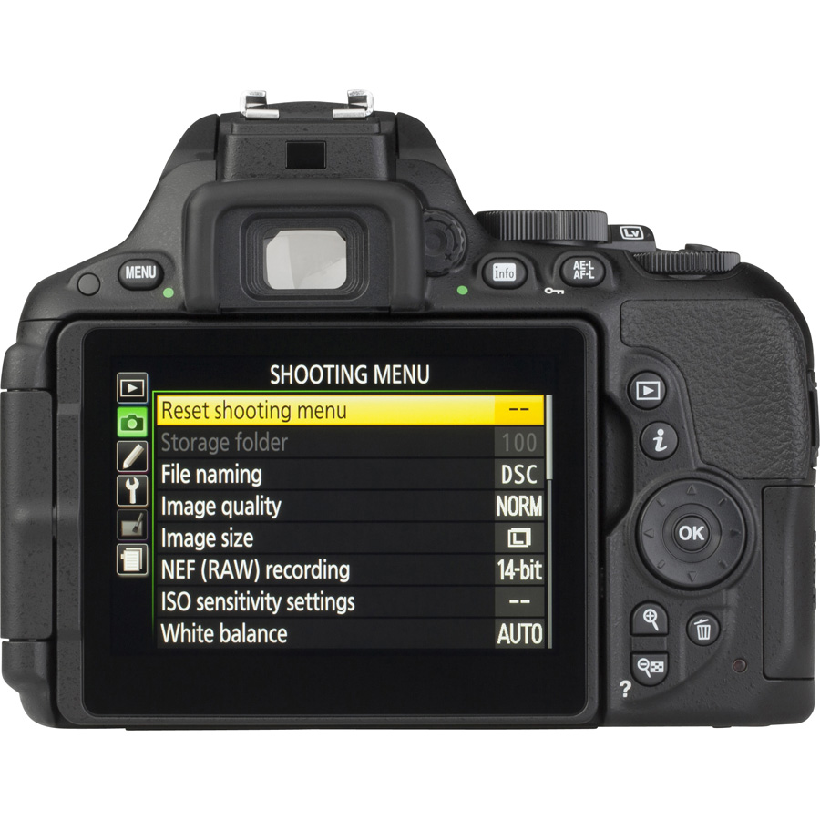 Nikon D5500 + AF-S DX Nikkor 18-105 mm G ED VR - Vue de dos