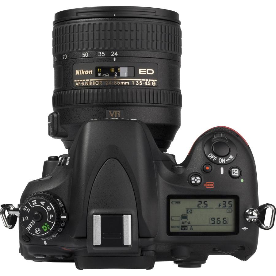 Nikon D610 + AF-S 24-85 mm G ED VR - Vue du dessus