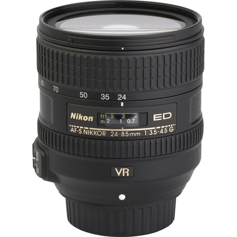 Nikon D610 + AF-S 24-85 mm G ED VR - Vue de l'objectif