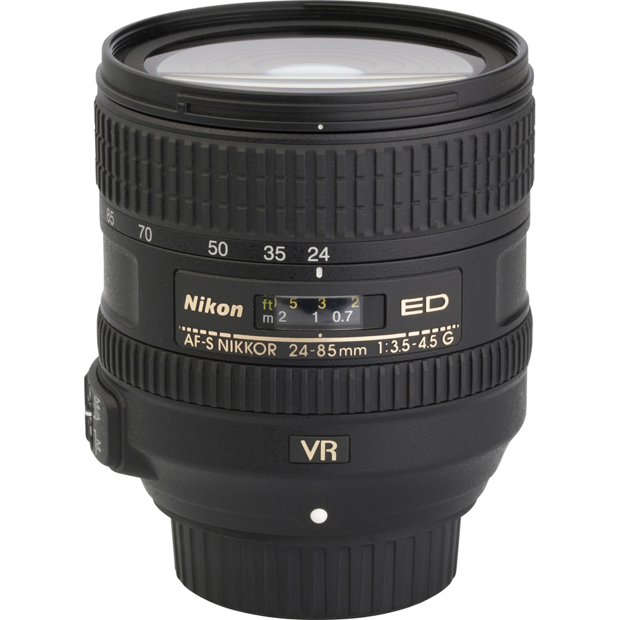 Nikon D750 + AF-S Nikkor 24-85 mm G ED VR - Vue de l'objectif