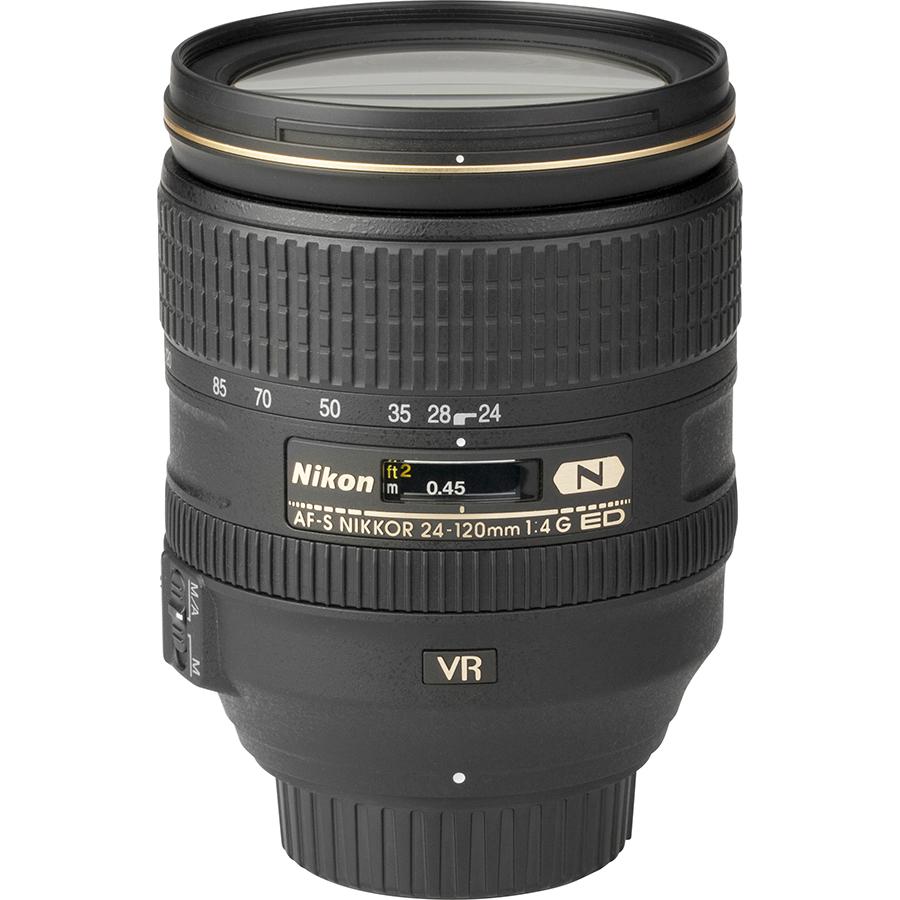 Nikon D780 + AF-S Nikkor 24-120 mm G ED VR - Vue de l'objectif